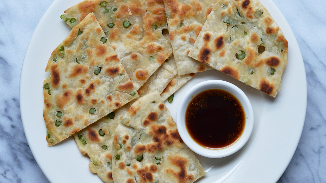 From the Garden: Garlic Scape Chinese Pancakes