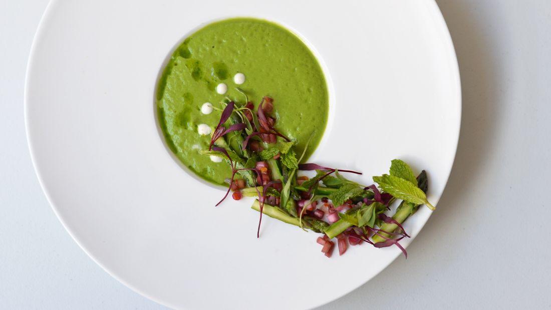 A Plating Palate: Chilled Asparagus & Fresh Herb Soup